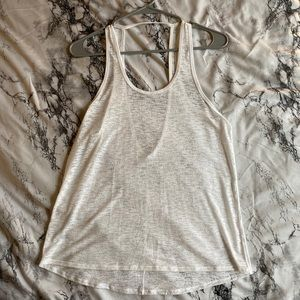 lululemon burnt out white tank size 6